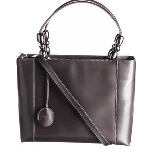 Christian Dior pearl gray Maris 2way satchel bag